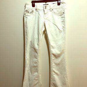 Vigoss Size 7/8 Chelsea Flare Embellished Jeans